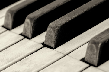 A Vintage Piano close up