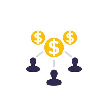 labor, employee cost vector icon