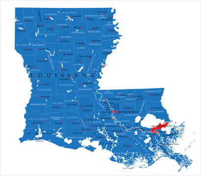 Louisiana state political map