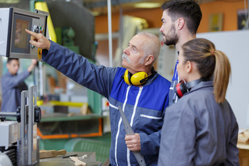 young apprentices in industry sector