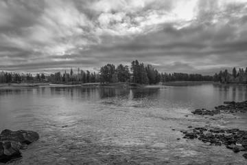 River in rural landscape