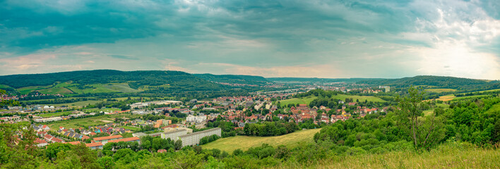Jena in Thuringia from above