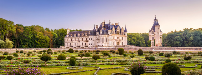 Fototapete - Castle or chateau de Chenonceau, France