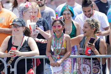 People watch during the 37th Annual Mermaid Parade in the Coney Island, New York