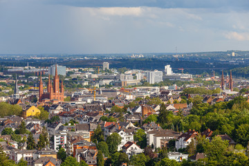 Wiesbaden, Blick vom Neroberg. 20.06.2019.