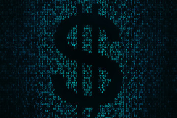 Cryptocurrency and money concept