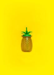 Pineapple juice in bottle