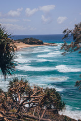 Coastline of Stradbroke Island Australia