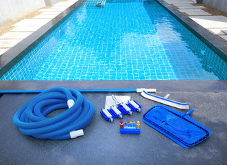 Swimming pool cleaning equipment.Service and maintenance of the pool.