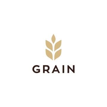 wheat / grain icon vector logo design