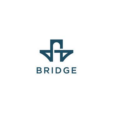 simple bridge symbol vector logo design