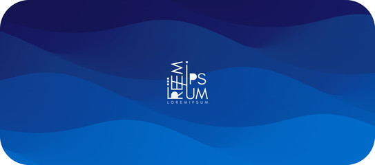 Wall Mural - Water surface. Blue abstract background. Vector illustration for design.