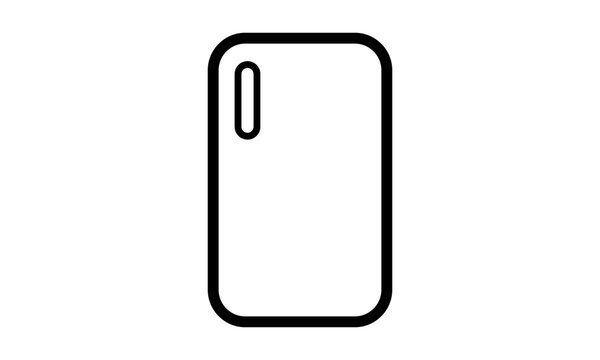 Modern black phone cover  vector image