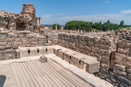 Public Toilets in Ephesus Ancient City