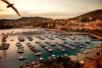 Porto di Lerici al tramonto