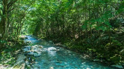 川・渓流・ドローン