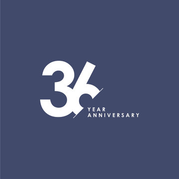 36 Years Anniversary Vector Template Design Illustration