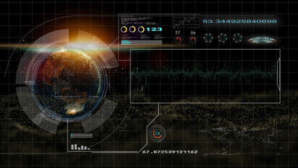 hi technology interface, 4K footage hud global interface and technology, abstract technology ui futuristic concept hud interface hologram elements of digital data chart, This element finished by NASA