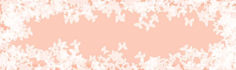 abstract light beautiful floral pink background with white butterfly
