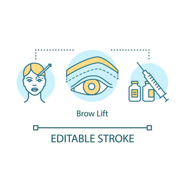 Brow lift concept icon
