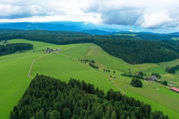 Naturlandschaft, Hochschwarzwald, Luftbild