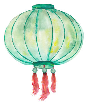 paper chinese lantern watercolor liner