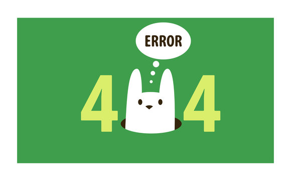 Error 404 page vector internet problem or web warning message webpage not found erroneously illustration funny set of erroneous website failure or alert site is broken service, information background