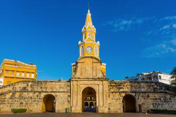 Fotomurales - Plaza de la Paz Centro Historico aera of Cartagena de los indias Bolivar in Colombia South America