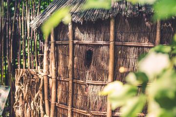 Cabane en bois et en paille Wall mural