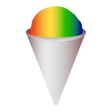 rainbow snowcone snow cone vector graphic illustration