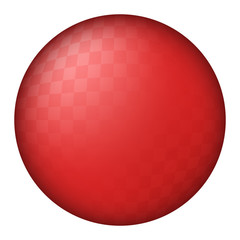 red kickball dodgeball ball vector illustration icon symbol graphic