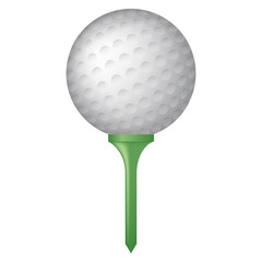 golf ball on tee vector graphic illustration icon
