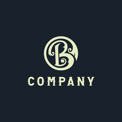 B and L Letter or BL or LB Letter Logo Template