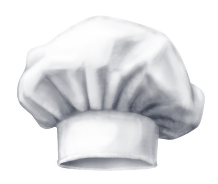 Chef hat. Vector illustration isolated on white background