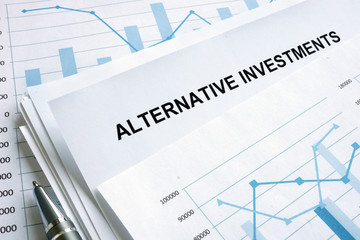 Documents about Alternative investments with financial charts.