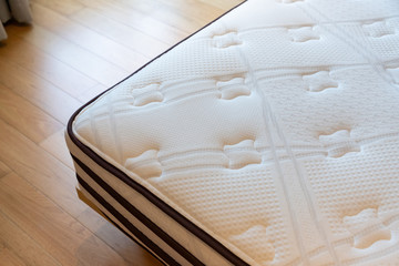 soft mattress, dust mites on bed,  concept : allergy in bed room