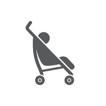Baby Stroller icon on white background