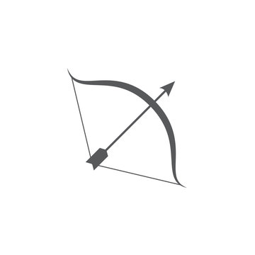Bow and arrow icon on white background