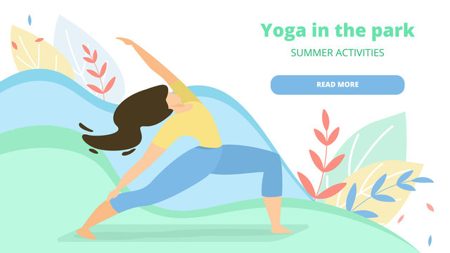 Exercise for Women Yoga in the Park Landing Page.