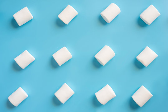 Marshmallows with a beatiful background