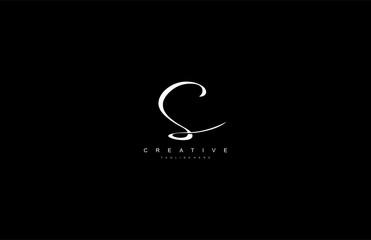 Stylish Monogram Signature Letter S Logo Design
