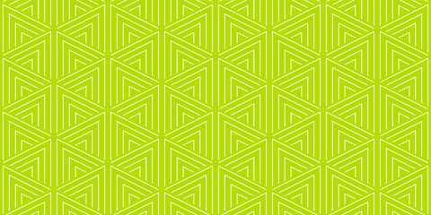 Summer background geometric triangle pattern seamless lemon green and white.