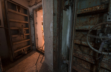 In abandoned bomb shelter