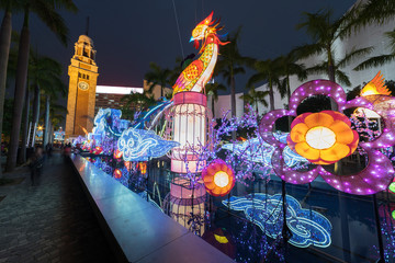 Fototapete - Chinese lantern for Chinese new year in Hong Kong city