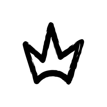 Hand drawn silhouette of crown