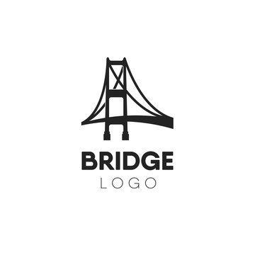 Creative abstract bridge logo design template.