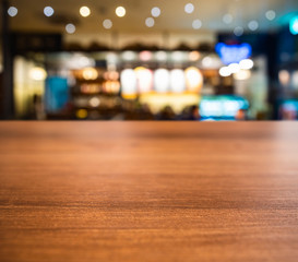 Table top wooden counter Blur Bar cafe restaurant Interior background