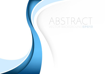 Blue vector abstract blue background with copy space for your text Wall mural