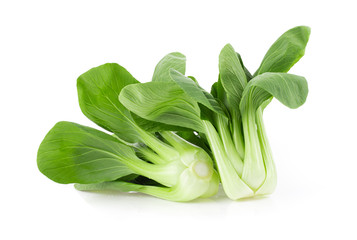 Bok choy isolated on white background. full depth of field