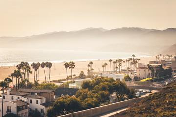 Golden sunset over Santa Monica